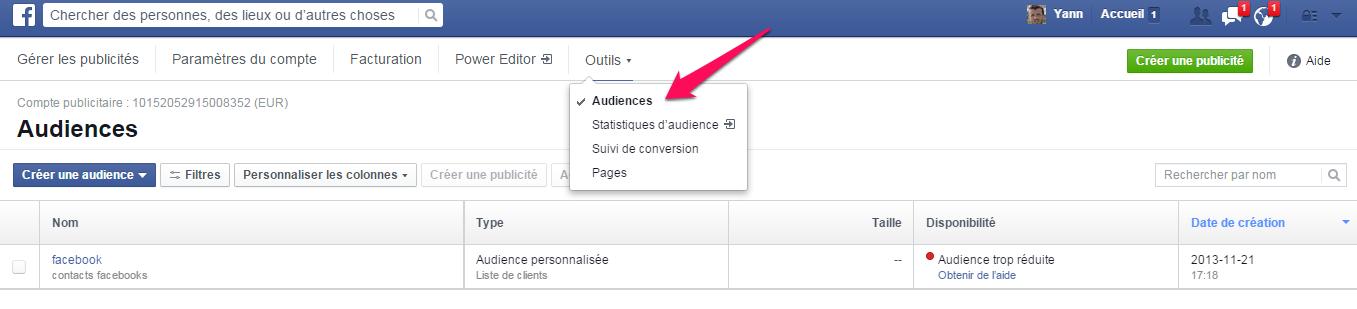 audience similaire pour Facebook 0