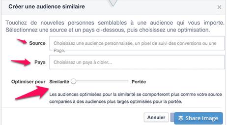 audience similaire pour Facebook 2
