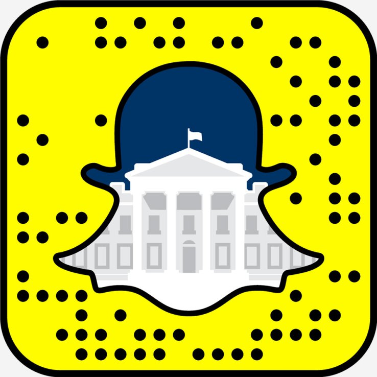 snapcode_whitehouse snapchat maison blanche