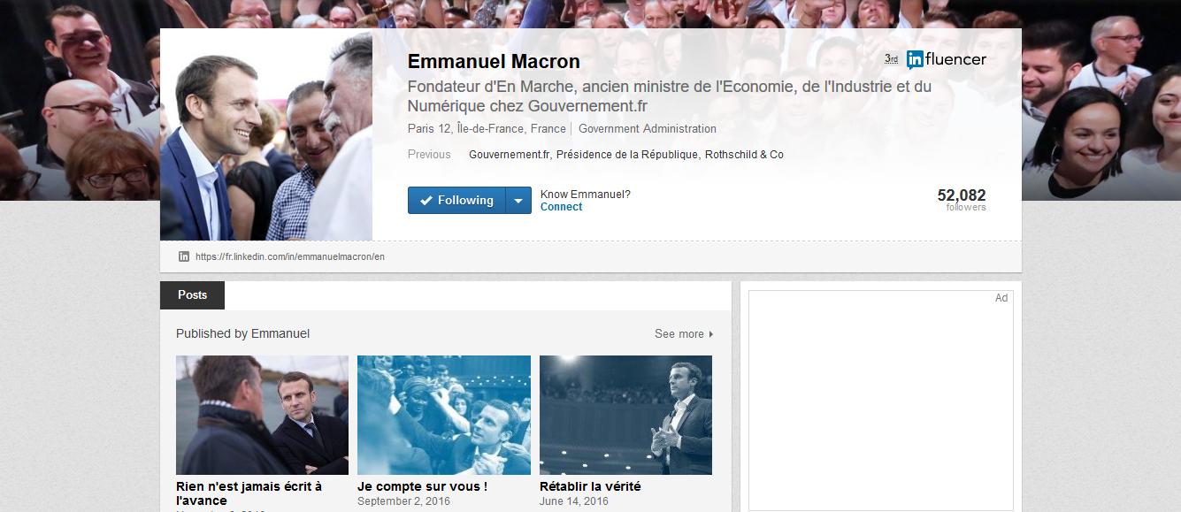 Macron linkedin blog
