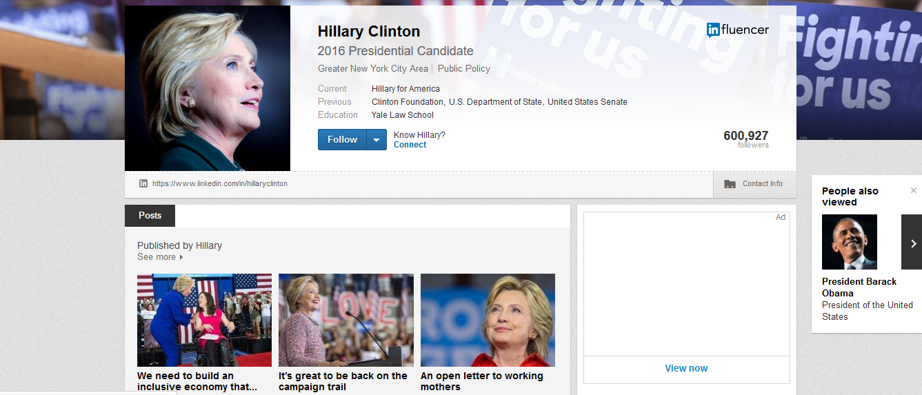 clinton linkedin blog